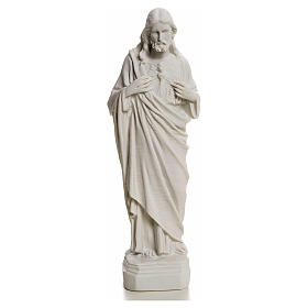 Sagrado Coração de Jesus em pó de mármore 20-25 cm s1
