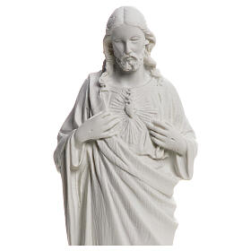 Sagrado Coração de Jesus em pó de mármore 20-25 cm