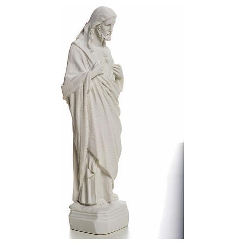 Sagrado Coração de Jesus em pó de mármore 20-25 cm 2