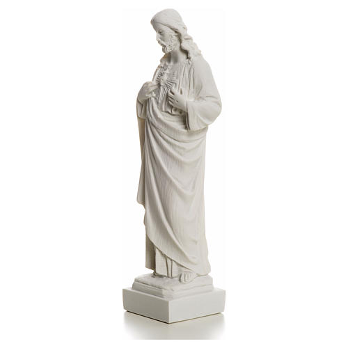 Holy Heart of Jesus made of Reconstituted Carrara Marble 20-25 cm 12