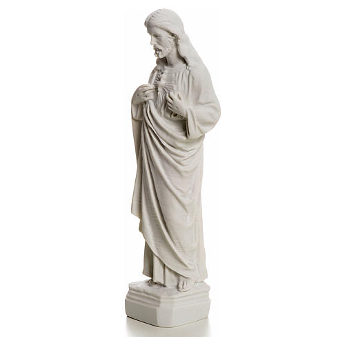 Holy Heart of Jesus made of Reconstituted Carrara Marble 20-25 cm 3