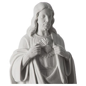 Holy Heart of Jesus,70 cm Reconstituted Carrara Marble Statue s8