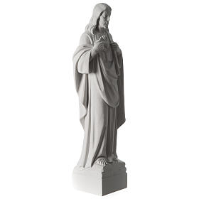 Holy Heart of Jesus,70 cm Reconstituted Carrara Marble Statue s10