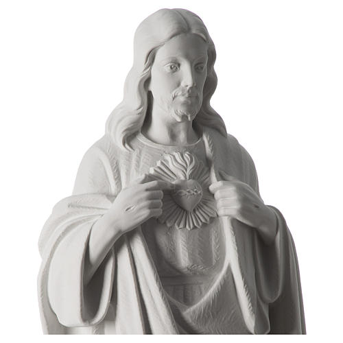 Holy Heart of Jesus,70 cm Reconstituted Carrara Marble Statue 8