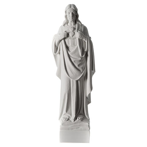 Holy Heart of Jesus,70 cm Reconstituted Carrara Marble Statue 2