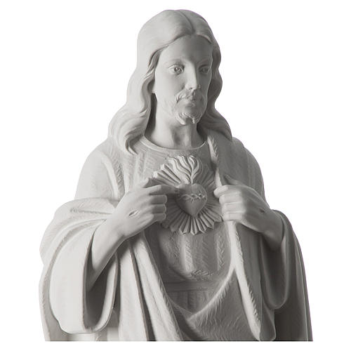 Holy Heart of Jesus,70 cm Reconstituted Carrara Marble Statue 3