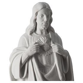 Sacro Cuore di Gesù 70 cm marmo bianco s8
