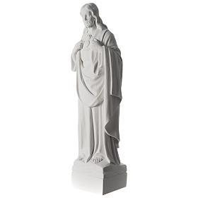 Sacro Cuore di Gesù 70 cm marmo bianco s9