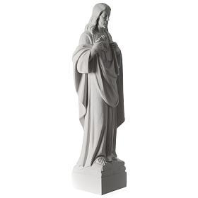 Sacro Cuore di Gesù 70 cm marmo bianco s10