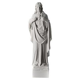 Sacro Cuore di Gesù 70 cm marmo bianco s2