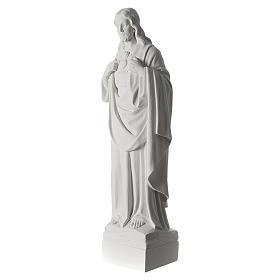Sacro Cuore di Gesù 70 cm marmo bianco s4