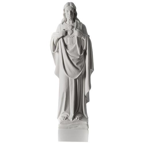Sacro Cuore di Gesù 70 cm marmo bianco 7