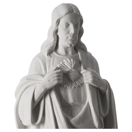 Sacro Cuore di Gesù 70 cm marmo bianco 8