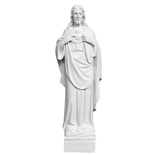 Sacro Cuore di Gesù 70 cm marmo bianco 1
