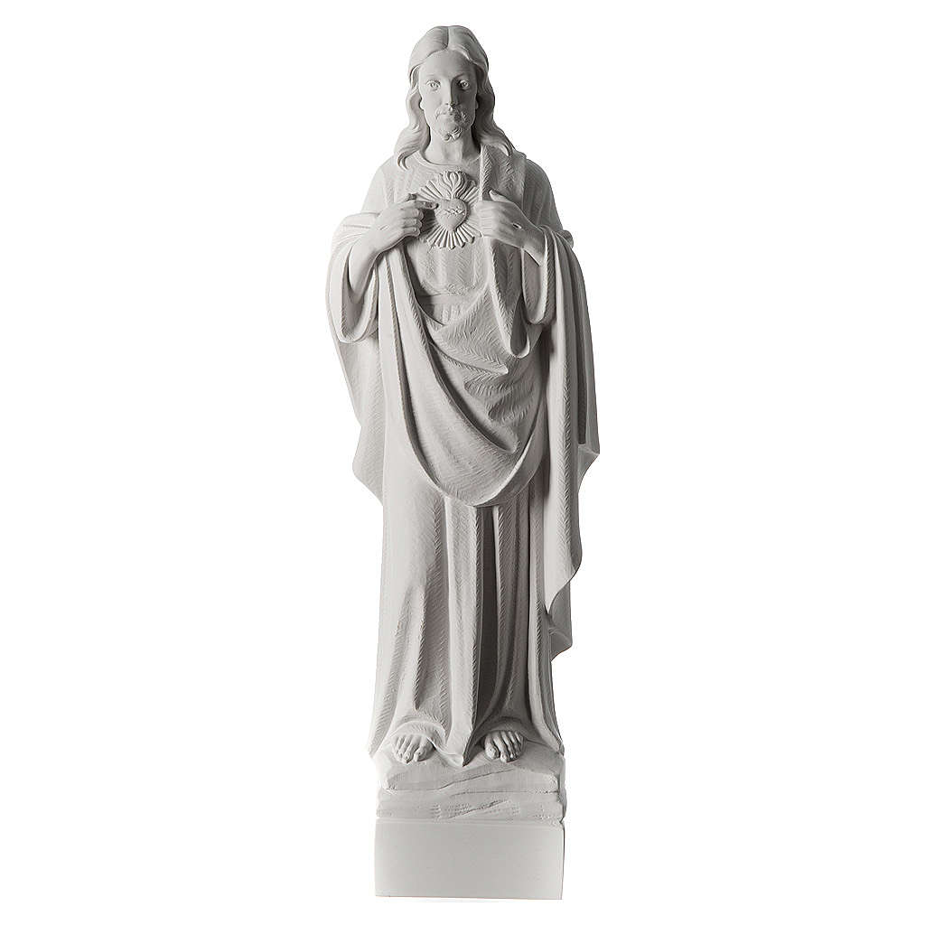 Holy Heart of Jesus,70 cm Reconstituted Carrara Marble Statue 4