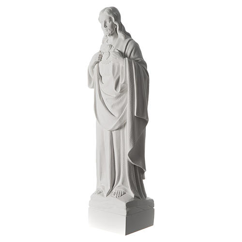 Holy Heart of Jesus,70 cm Reconstituted Carrara Marble Statue 5