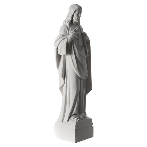Holy Heart of Jesus,70 cm Reconstituted Carrara Marble Statue 6