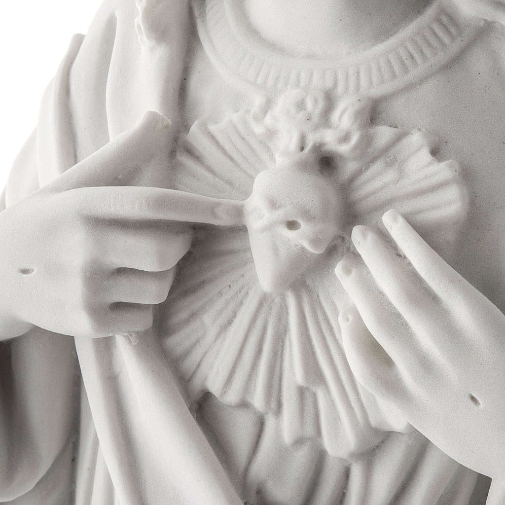 Holy Heart of Jesus, 50 cm Reconstituted Carrara Marble Statue 4