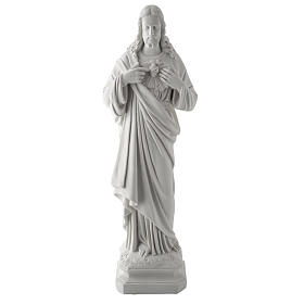 Holy Heart of Jesus, 50 cm Reconstituted Carrara Marble Statue s1