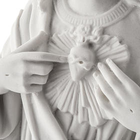 Holy Heart of Jesus, 50 cm Reconstituted Carrara Marble Statue s4