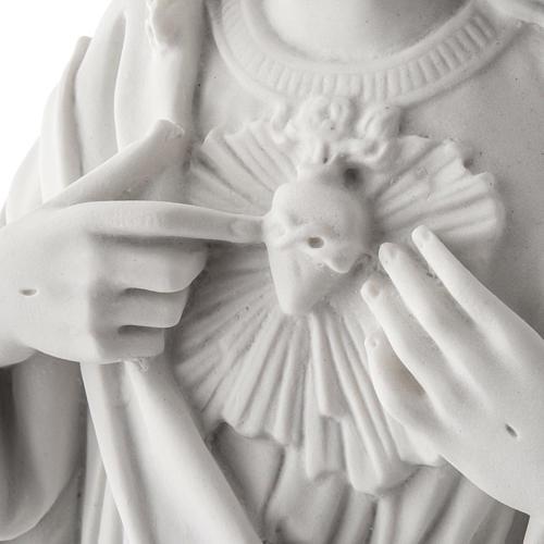 Sagrado Corazón Jesús 50cm  polvo de mármol 4