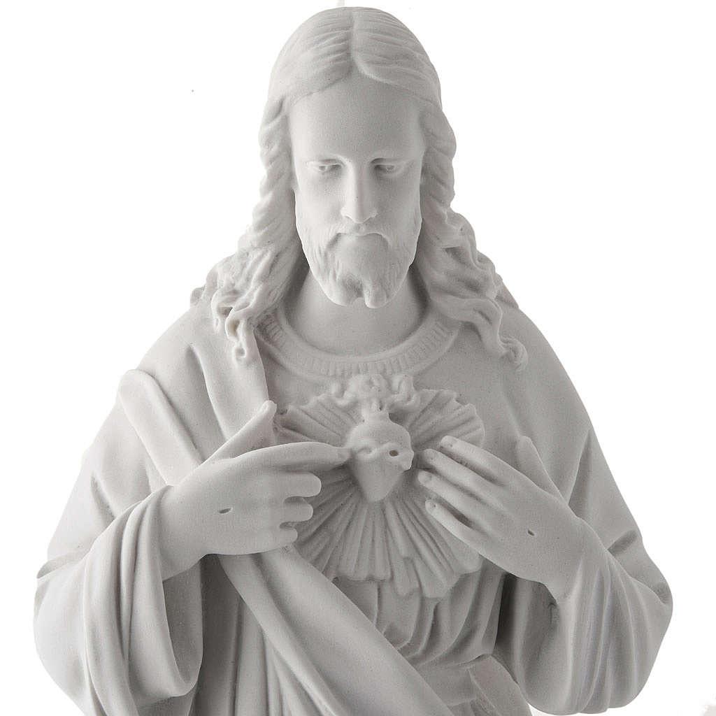 Sacro Cuore di Gesù 50 cm marmo sintetico bianco 4