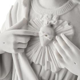 Sagrado Coração Jesus 50 cm mármore sintético branco s4