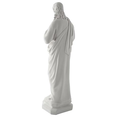 Sagrado Coração Jesus 50 cm mármore sintético branco 7