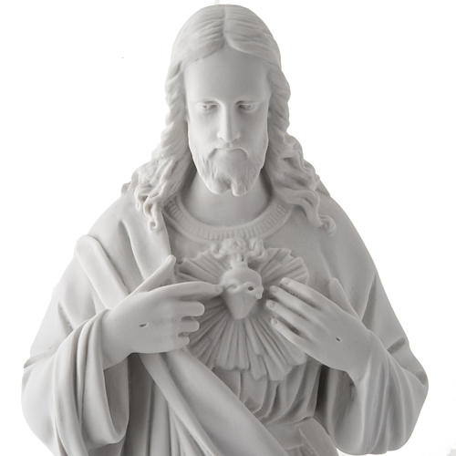 Holy Heart of Jesus, 50 cm Reconstituted Carrara Marble Statue 5
