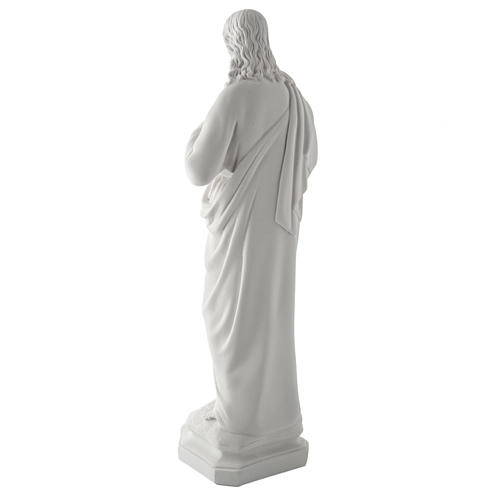 Holy Heart of Jesus, 50 cm Reconstituted Carrara Marble Statue 14