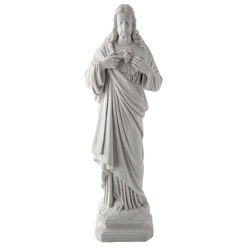 Holy Heart of Jesus, 50 cm Composite Carrara Marble Statue 1