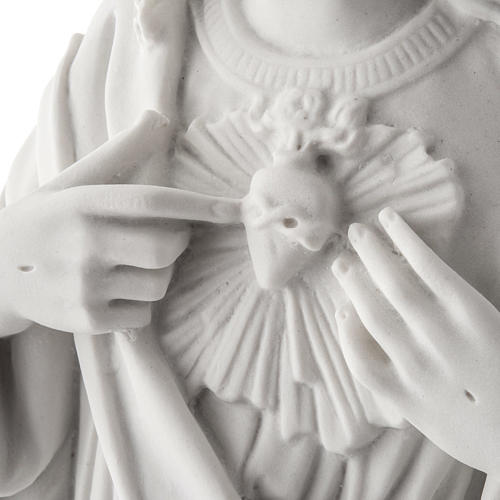 Holy Heart of Jesus, 50 cm Composite Carrara Marble Statue 4
