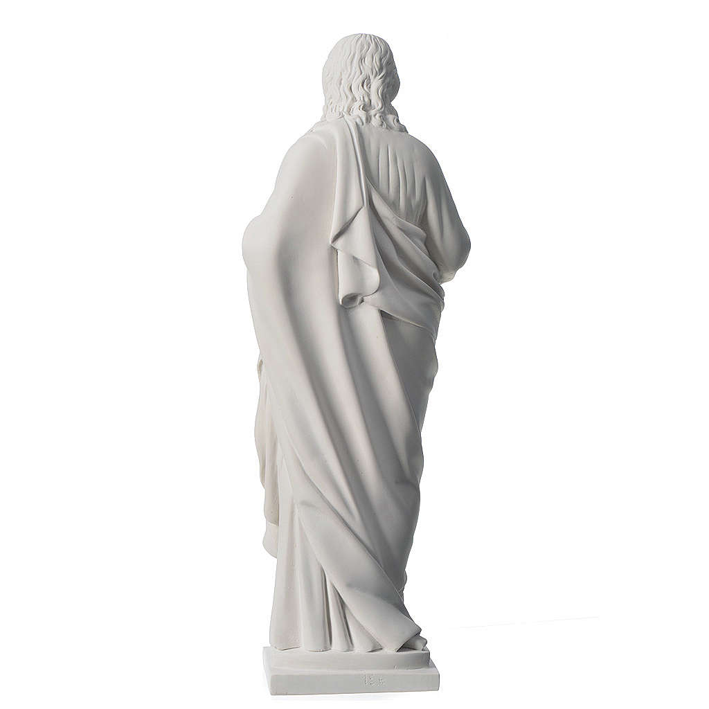 Sagrado Corazón de 50cm  polvo de mármol 4