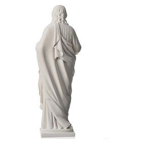 Sagrado Corazón de 50cm  polvo de mármol s8