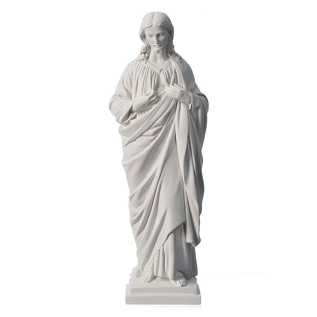 Sacro Cuore 50 cm marmo sintetico bianco 4
