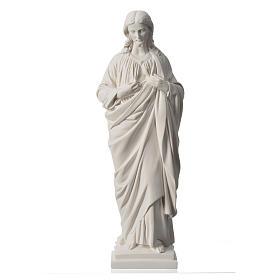 Sacro Cuore 50 cm marmo sintetico bianco s5