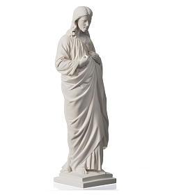 Sacro Cuore 50 cm marmo sintetico bianco s6
