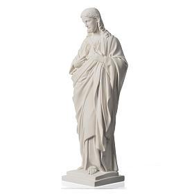 Sacro Cuore 50 cm marmo sintetico bianco s7
