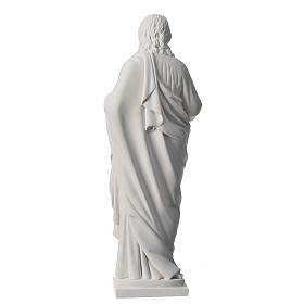 Sacro Cuore 50 cm marmo sintetico bianco s4