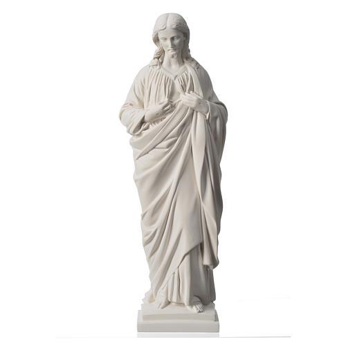 Sacro Cuore 50 cm marmo sintetico bianco 5