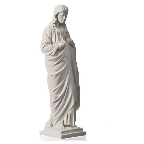 Sacro Cuore 50 cm marmo sintetico bianco 6