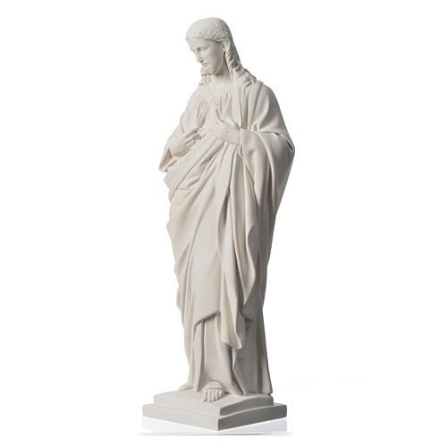 Sacro Cuore 50 cm marmo sintetico bianco 7