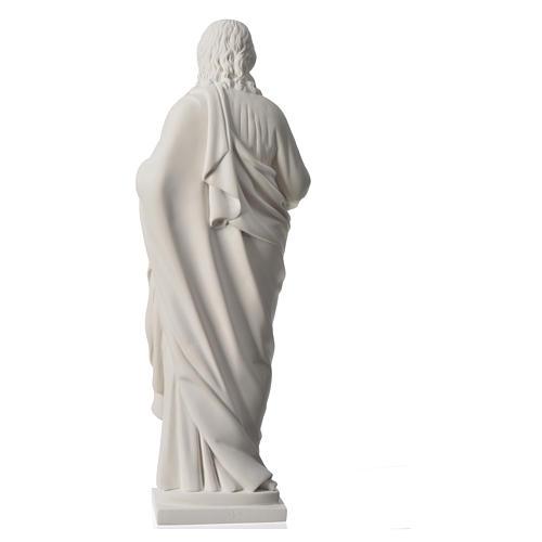 Sacro Cuore 50 cm marmo sintetico bianco 8