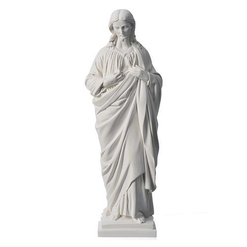 Sacro Cuore 50 cm marmo sintetico bianco 1