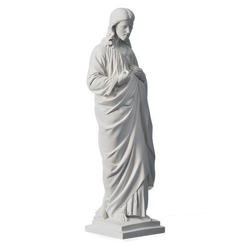 Sacro Cuore 50 cm marmo sintetico bianco 2