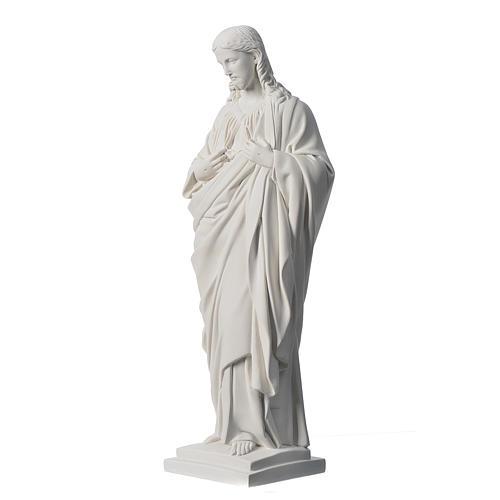 Sacro Cuore 50 cm marmo sintetico bianco 3