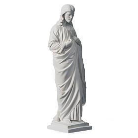 Sagrado Coração 50 cm mármore sintético branco