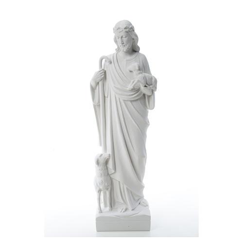 Buon Pastore con pecore, marmo sintetico 60-80 cm 5