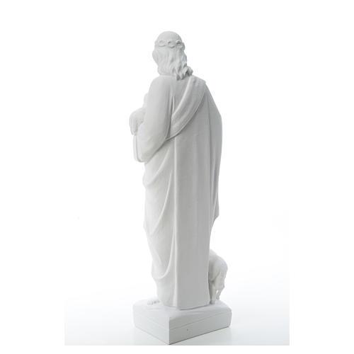 Buon Pastore con pecore, marmo sintetico 60-80 cm 7