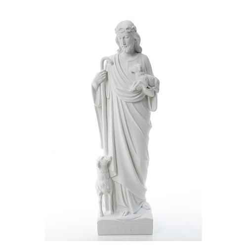 Buon Pastore con pecore, marmo sintetico 60-80 cm 1